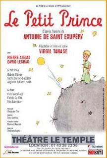 Affiche Le Petit Prince au Théâtre du Temple