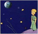 The little prince on his planet