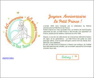Site des 60 ans du Petit Prince