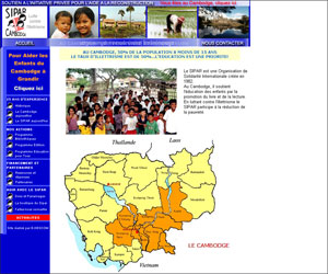 Site de l'association SIPAR Cambodge