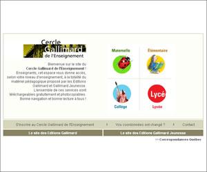 Site du Cercle Gallimard de l'enseignement