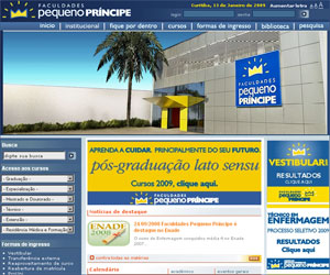 Site Faculdades Pequeno Príncipe