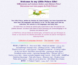 Site Welcome to my Little Prince Site