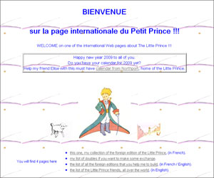 Page internationale du Petit Prince