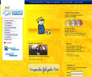 Site Instituto de Pesquisa Pelé