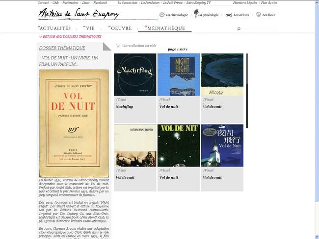 Un nouveau site officiel pour Antoine de Saint-Exupéry