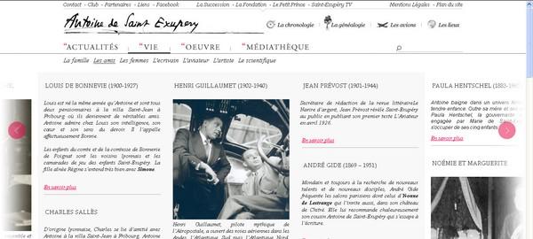Êtes-vous allés sur le site d'Antoine de Saint-Exupéry ?