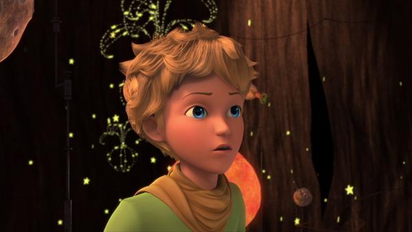 Le Petit Prince la tête dans les étoiles…