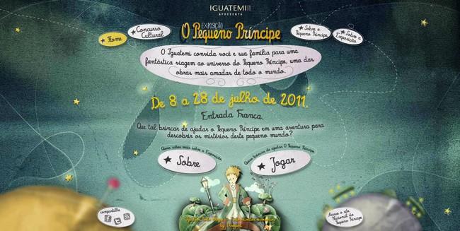 Un site pour l'expo Petit Prince  au Brésil