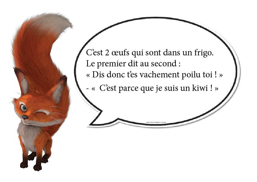 renard - oeuf