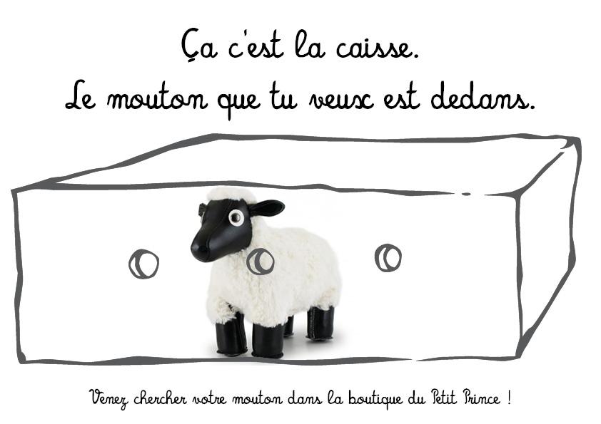 le mouton dans la caisse
