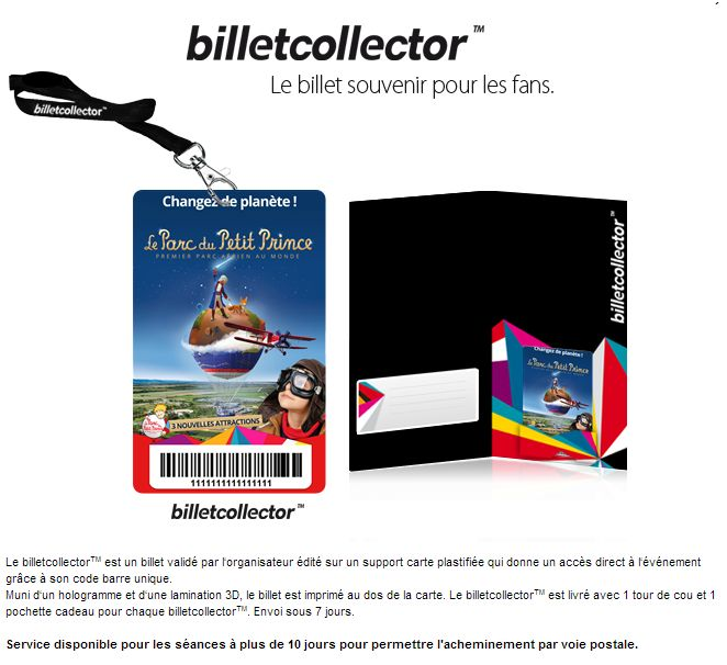 billet collector parc pp