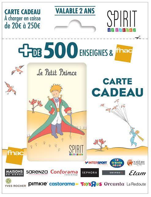 Carte Cadeau Fnac Spirit Of Cadeau.La Carte Cadeau Spirit Of Cadeau Revient Le Petit Prince