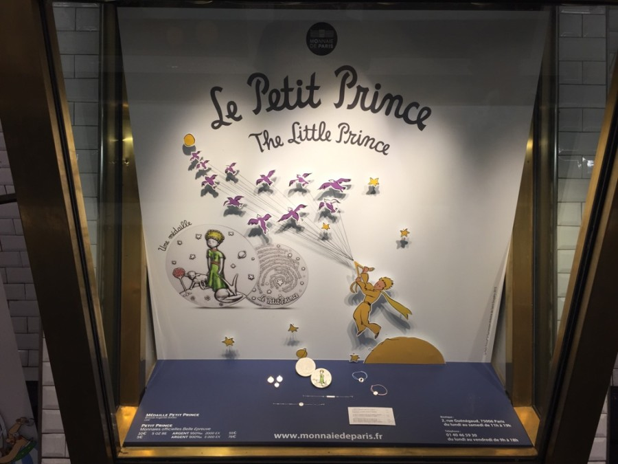 Le Petit Prince 2015 Vitrine Métro Pont Neuf