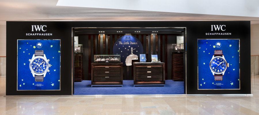 HANDOUT - IWC Schaffhausen Boutique with 'Le Petit Prince' decoration at Pacific Place in Hong Kong.  (PHOTOPRESS / Photo by Victor Fraile / illume visuals)