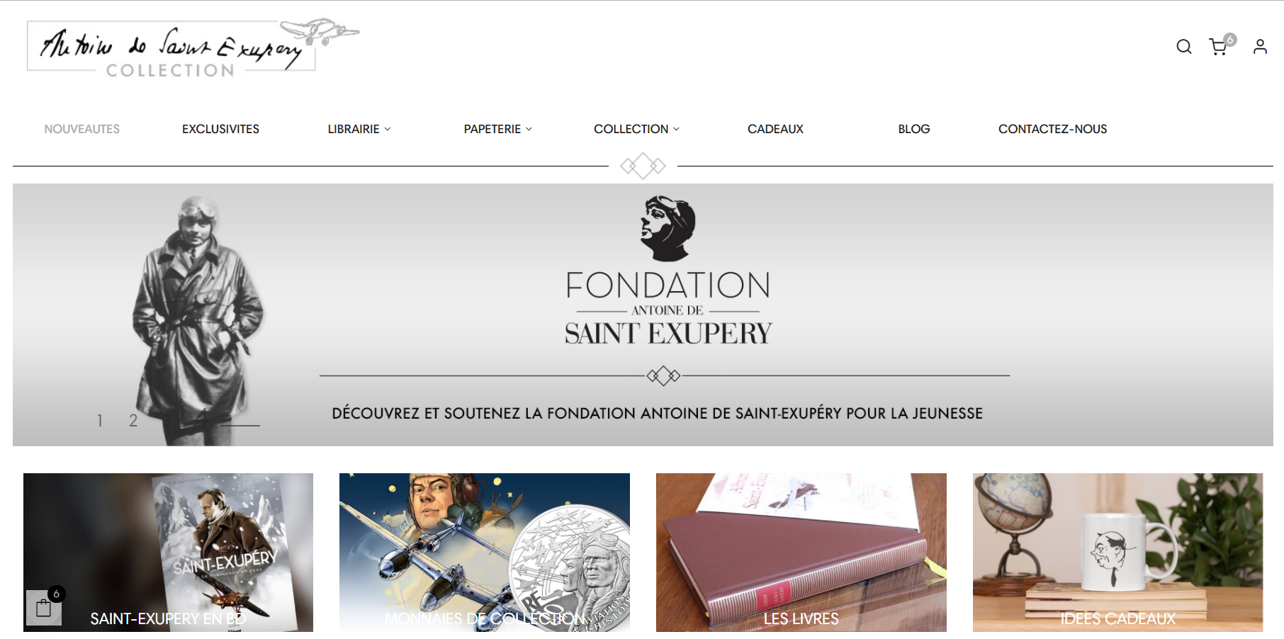 Lancement du site Saint-Exupéry Collection